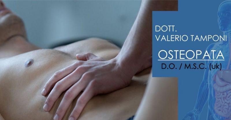 DOTT. VALERIO TAMPONI Olbia - offerta seduta osteopata trattamento patologie viscerali addome e torace