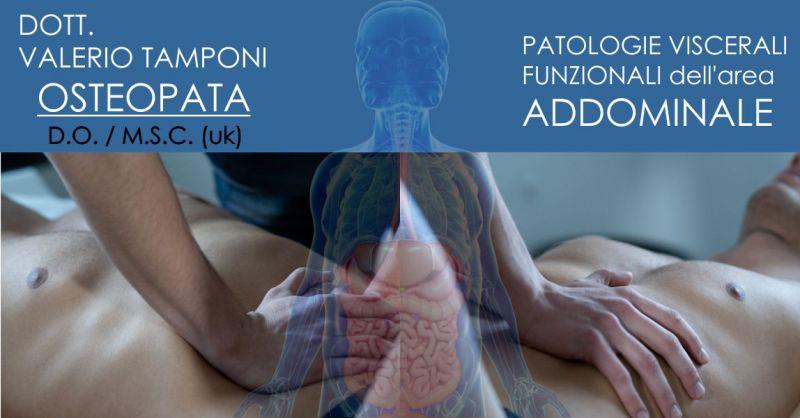 DOTT. VALERIO TAMPONI Olbia - offerta seduta osteopata trattamento patologie viscerali area addominale