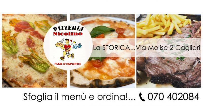 Pizzeria Nicolino  Cagliari via Molise - offerta menu da asporto pizza tonda