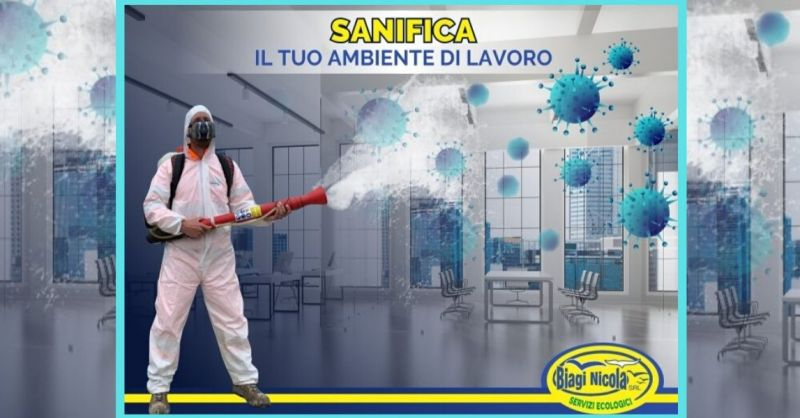 BIAGI SERVIZI  - offerta trattamenti di Sanificazione uffici e Ambienti