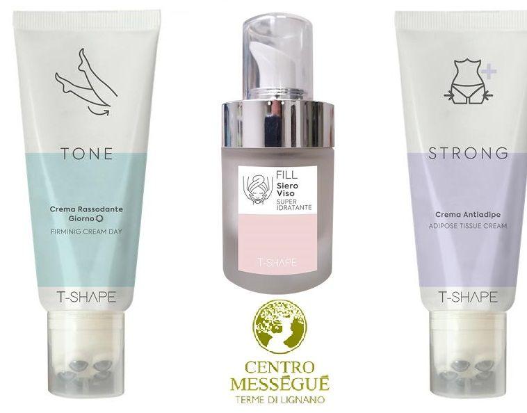 Occasione nuovi prodotti T-Shape al Centro Mességué a Udine Pordenone - Offerta inee cosmetiche TONE, STRONG, FILL  a Udine Pordenone