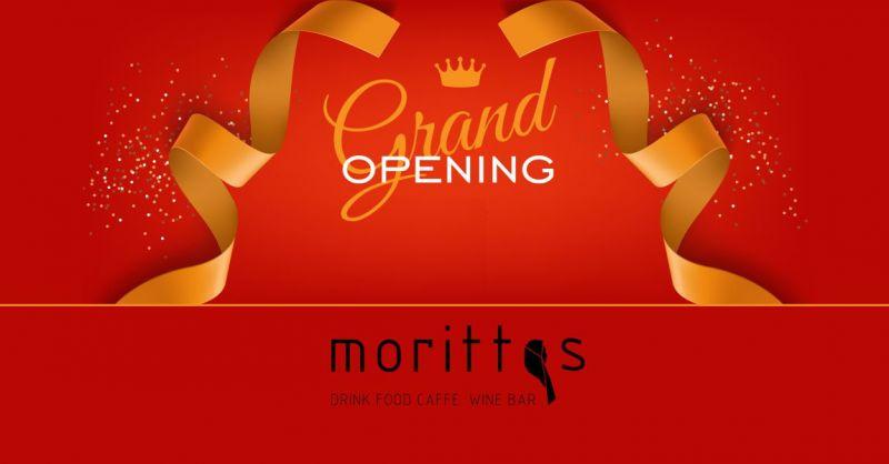 MORITTAS DRINK FOOD CAFFE WINE BAR - promozione festa di inaugurazione rinnovo locale 20 dicembre
