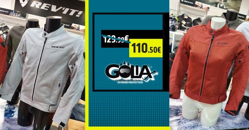 GOLIA Offerta Giacca REV'IT Eclipse Uomo Donna Francavilla - Occasione Giacca Moto Estiva Francavilla Mare