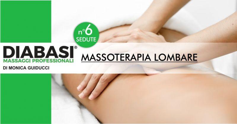 MONICA GUIDUCCI massaggi professionali - offerta sei sedute di massoterapia lombare