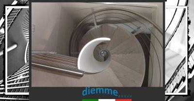 offerta produzione scale a chiocciola in ferro made in italy occasione lavorazione artigianale scale