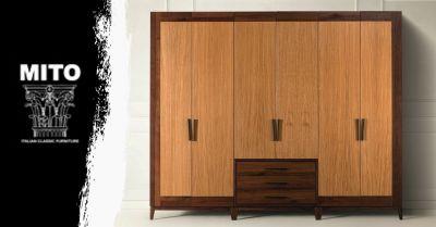 occasione armadio 6 ante con cassetti in rovere occasione arredamento zona notte legno su misura verona