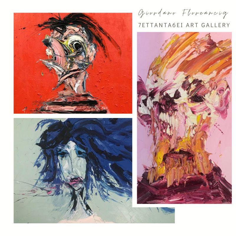 artista contemporaneo giordano floreancig esposizione pittura 7ETTANTA6EI ART GALLERY