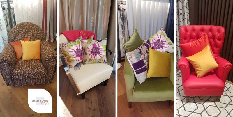 CISCO TENDAGGI DESIGN offerta riparazione divani – restauro copertura poltrone arluno