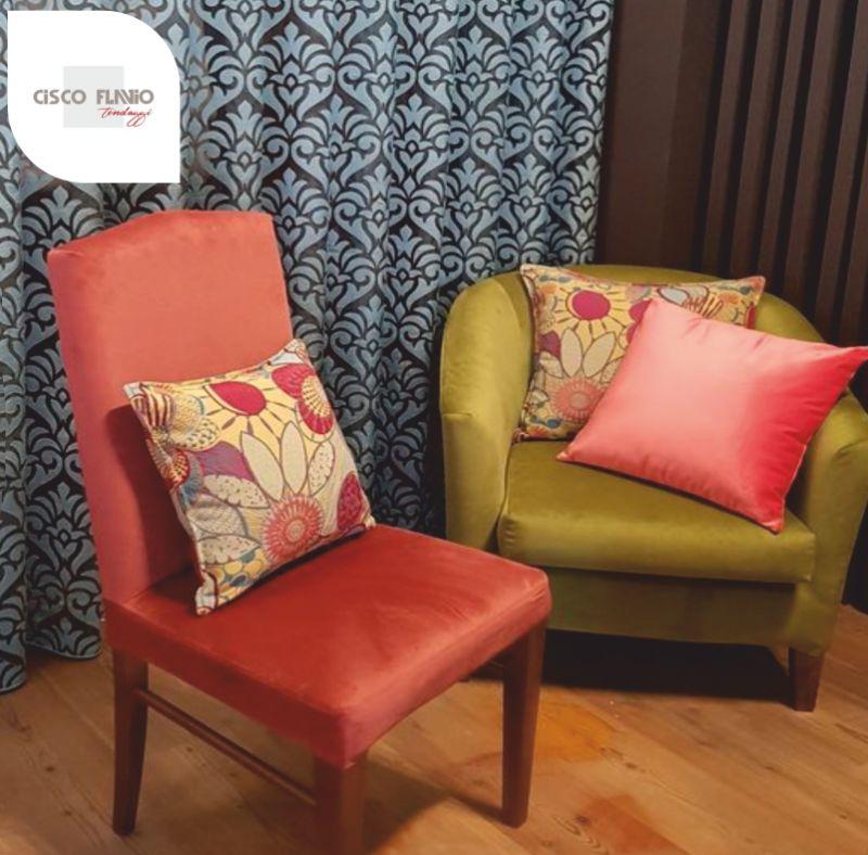 CISCO TENDAGGI DESIGN offerta laboratorio di tappezzeria – rivestimento artigianale divano