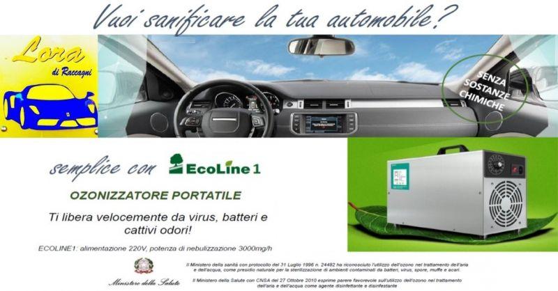 CARROZZERIA LORA - Offerta servizio gratuito sanificazione auto ozonizzatore portatile EcoLine1