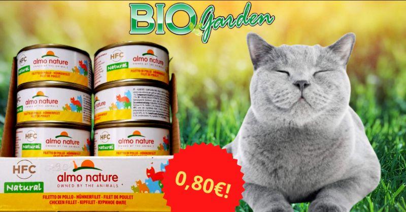 Offerta lattine Almo Nature gatto Vittoria - occasione lattine umido per gatti al pollo Ragusa