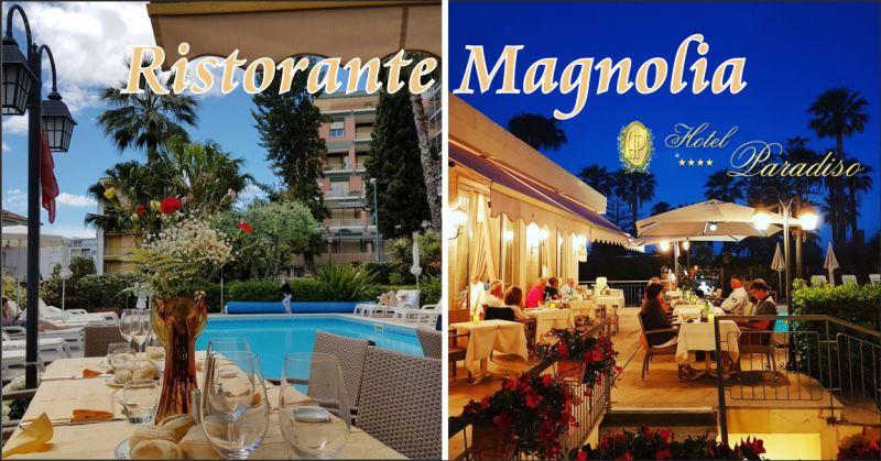 ristorante magnolia offerta cena con musica sanremo - occasione cena in piscina sanremo