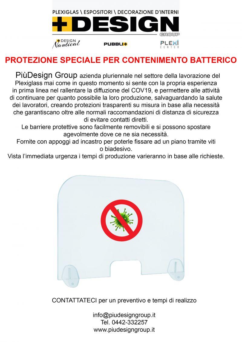 PUBBLIPIU' - Promozione creazione barriere plexiglass su misura prevenzione corona virus cov19
