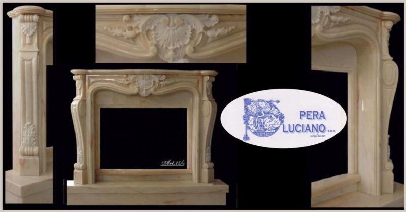 PERA LUCIANO - offerta realizzazione componenti e rivestimenti per camini in marmo Lucca