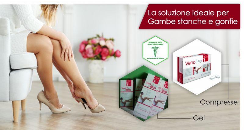 FARMACIA URGU OLLASTRA - offerta Venofleb compresse e gel gambe integratore migliorare circolazione