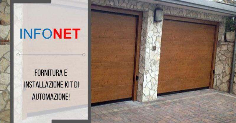 INFONET - Offerta vendita installazione kit automazione per sezionale basculante Vicenza