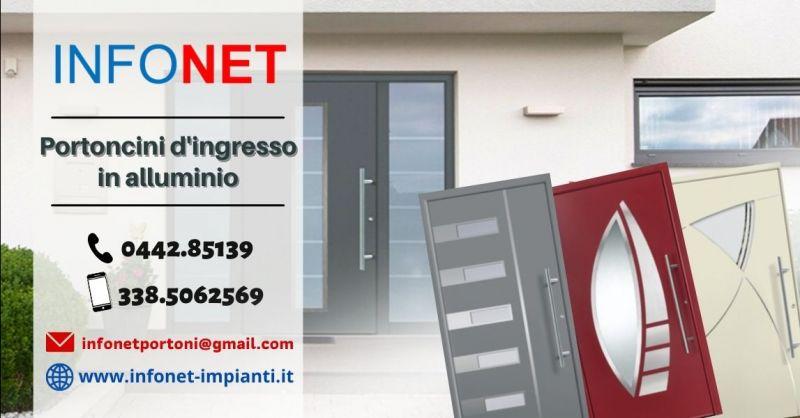 Offerta vendita portoncini d'ingresso in alluminio Padova - Occasione porte blindate in alluminio Verona