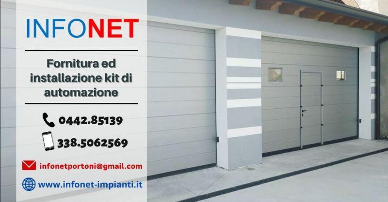 Offerta vendita kit automazione porte garage Padova - Occasione kit motorizzazione basculante garage Verona