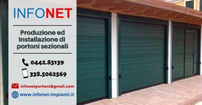 offerta produzione porte basculanti sezionali padova occasione vendita installazione portoni per garage
