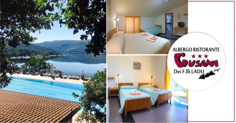 HOTEL GUSANA Gavoi - offerta camere accoglienti con vista sul lago di Gusana