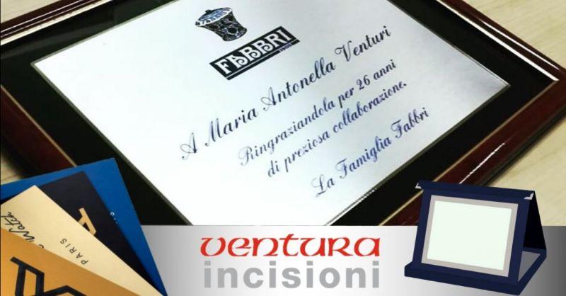 Offerta incisione targhe in ottone alluminio plex - occasione targhe personalizzate Bologna