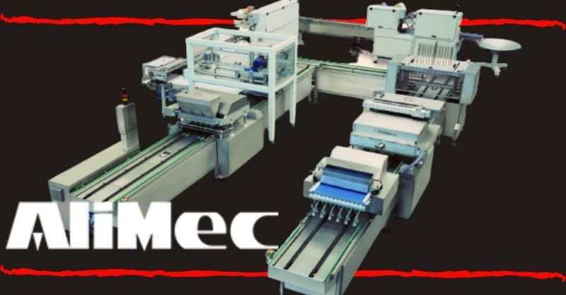 ALIMEC - Semi Automatic Line for industrial production Pound Cake Magdalena Brownie made Italy