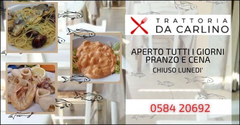 offerta ristorante di pesce Lucca e Versilia - RISTORANTE DA CARLINO