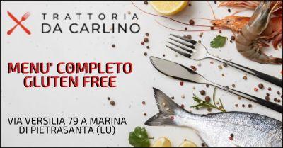 promozione ristorante glutenfree e ristorante di mare per celiaci versilia ristorante da carlino