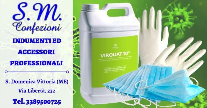 Offerta prodotti professionali disinfettanti - occasione vendita mascherine chirurgiche Messina