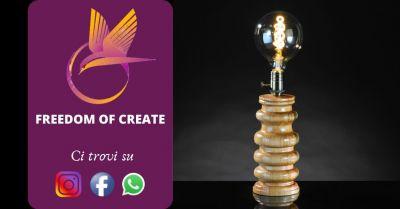 offerta vendita lampade artigianali in legno occasione lampada vintage design anni 60 torino