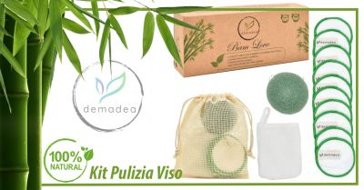 offerta kit pulizia viso naturale ed ecologico occasione dischetti struccanti lavabili ecologici