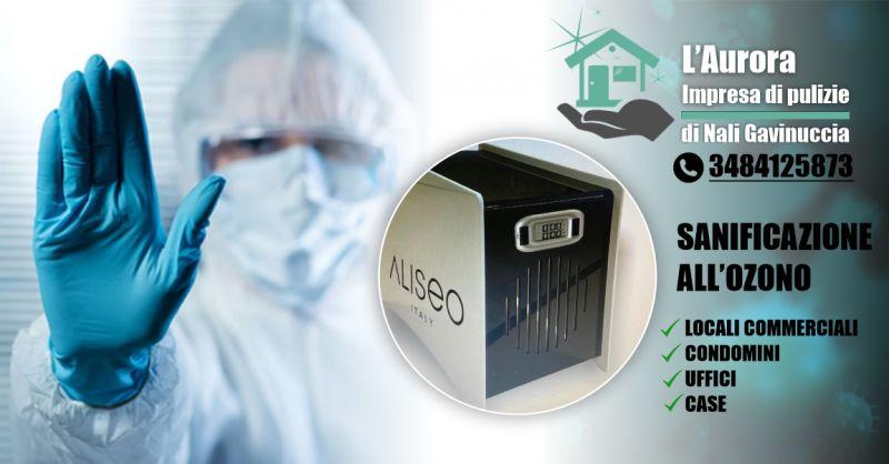 Aurora IMPRESA DI PULIZIE - offerta servizio certificato di sanificazione con ozono locali commerciali e uffici