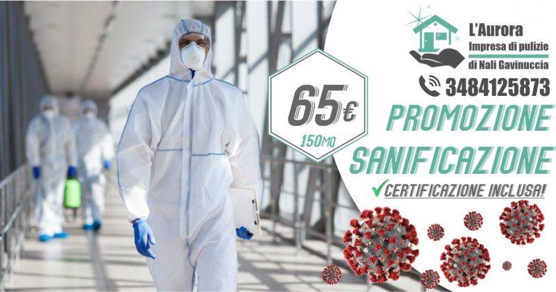 Aurora IMPRESA DI PULIZIE - promozione servizio certificato di sanificazione e disinfezione degli ambienti
