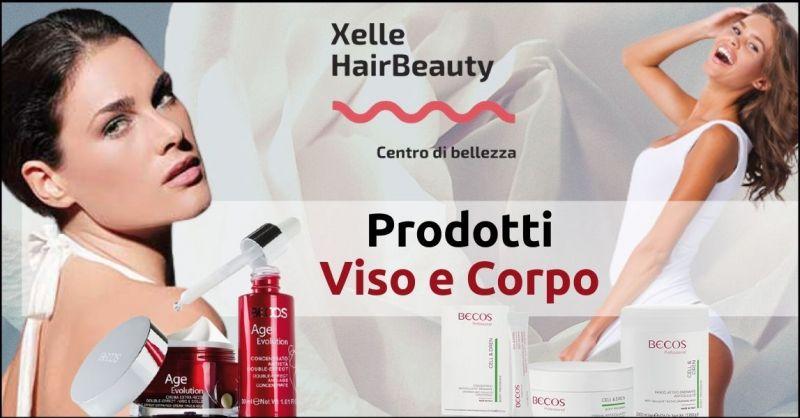 promozione prodotti per la cura del viso e del corpo BECOS - offerta salone di bellezza Livorno
