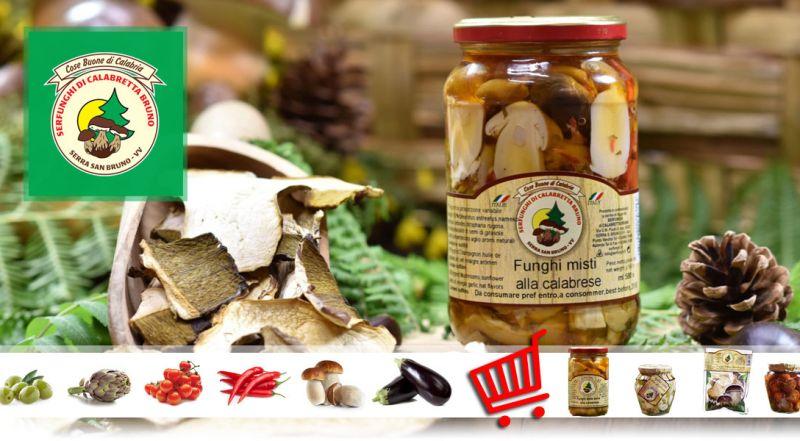 Serfunghi – Offerta vendita al dettaglio funghi – promozione funghi in olio alla calabrese