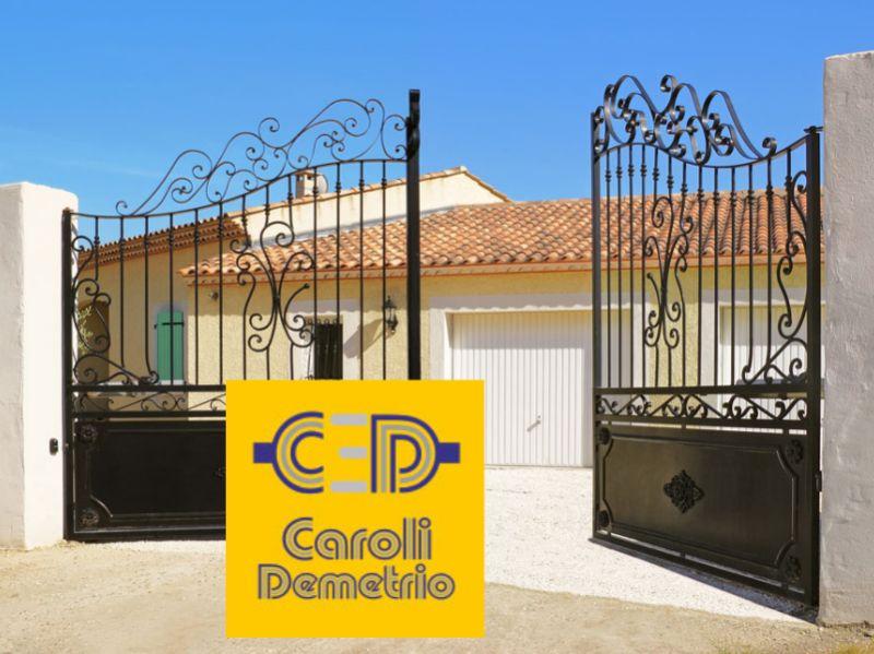 ELETTRICISTA CAROLI offerta cancelli elettrici a battente - cancelli automatici scorrevoli