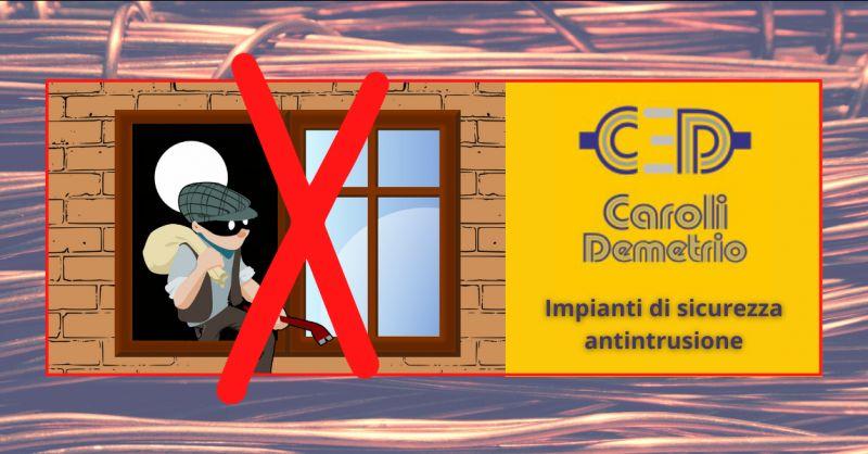 ELETTRICISTA CAROLI - offerta installazione impianti di sicurezza antintrusione Bergamo