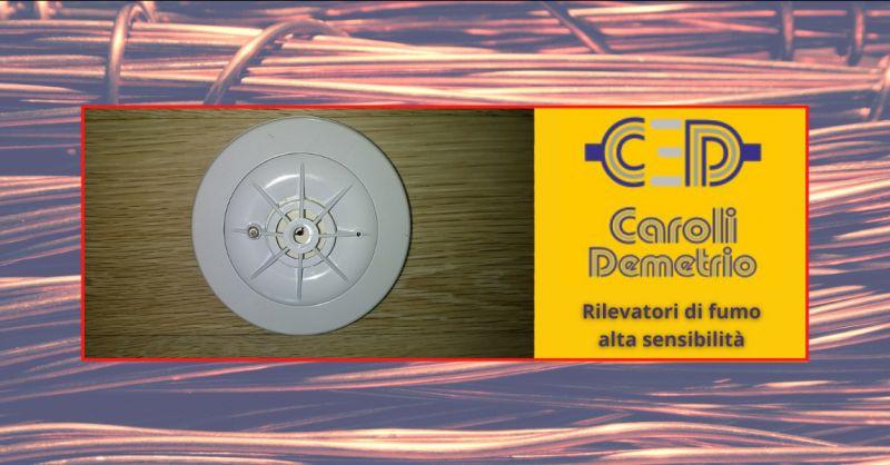 ELETTRICISTA CAROLI - Offerta installazione rilevatori di fumo ad alta sensibilita Bergamo