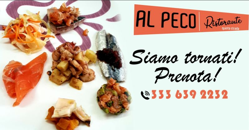 AL PECO Oristano - offerta ristorante dove gustare ottimi piatti a base di pescato locale sempre fresco