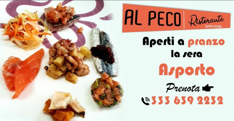 Ristorante AL PECO Oristano - offerta cena servizio da asporto