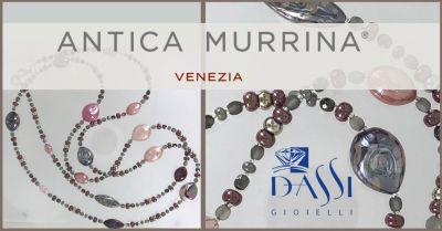 dassi gioielli collana filo di metallo e perle vetro soffiato antica murrina lungo 120 cm