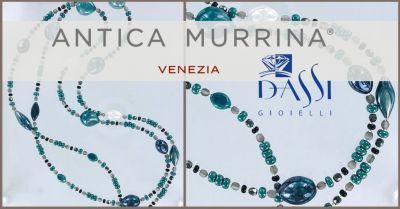 dassi gioielli collana in filo di metallo e perle vetro soffiato antica murrina lunga 108 cm