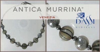 dassi gioielli bracciale con filo metallo e perle vetro soffiato antica murrina lungo 22 cm
