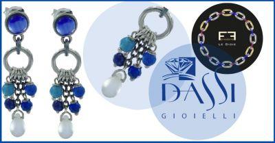 dassi gioielli offerta effeeffe le gioie orecchini ottone pietre dure sulle tonalita del blu