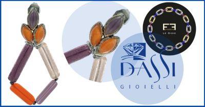 dassi gioielli promozione effeeffe le gioie vendita orecchini pendenti in barrette di vetro