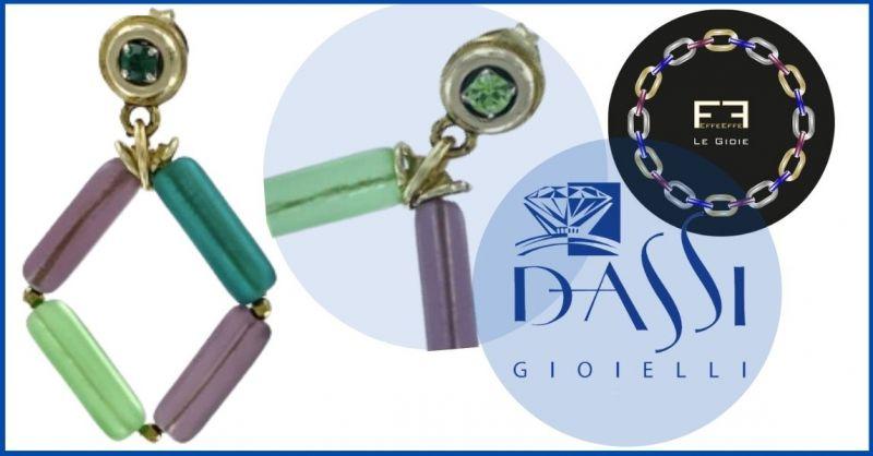 DASSI Gioielli - Promozione EffeEffe le Gioie Orecchini pendenti formati da barrette di vetro