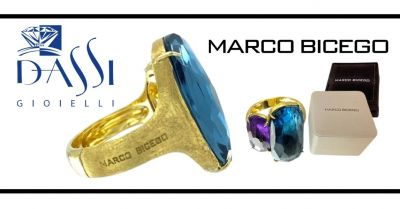 dassi gioielli occasione vendita anello marco bicego oro 18kt inciso a mano ametista e topazio