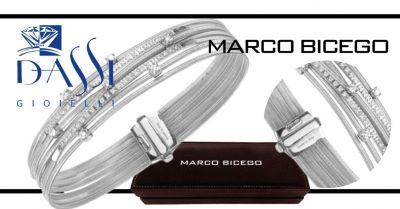 dassi gioielli offerta bracciale marco bicego goa oro bianco 18 carati con incassati diamanti
