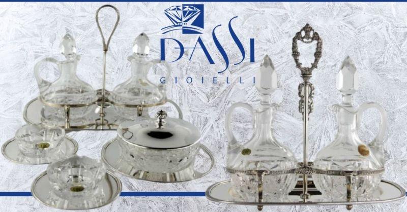 DASSI Gioielli - Offerta vendita online articoli in argento OLIERE E MENAGERE made in Italy