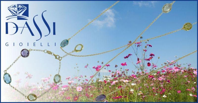 DASSI Gioielli - Offerta collana modello Chanel argento con metista topazzio azzurro e quarzi